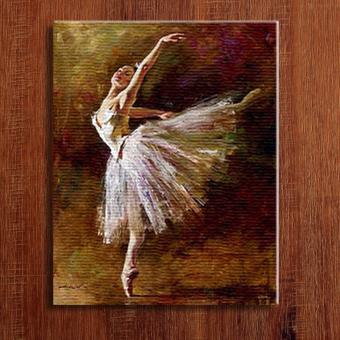 """The Ballerina"" DIY (Do-It-Yourself) Oil Painting By Numbers On Canvas For Home Wall Decor, New Hobby And Gift Price Philippines"