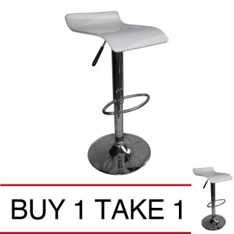 Harga Sumo BC-38WHT Bar Stool Acrylic Chair Furniture (White) Buy 1 Take 1