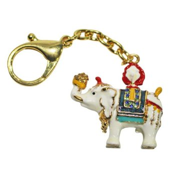 Harga Feng Shui White Elephant Carrying Jewel Charm