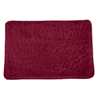 Harga Fuffy Rug Anti-kid haggy Area Rug Dmining Carpset Foor at Wine Red