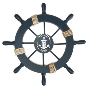 11'' Wood Nautical Rudder Boat Ship Wheel Beach House Wall Hanging Decoration #2085 Price Philippines