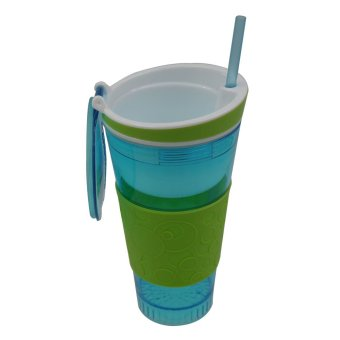 Harga Snackeez travel cup snack and drink (Blue/Green)