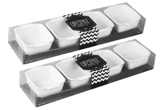 Lifestyle Square Serving Set of 8 (White) Price Philippines