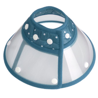 Harga Blue Dog Cat Elizabethan Pet Collar E-Collar Wound Healing Cone Protection Medical - intl