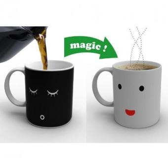 Harga Magic Change Face Color Heat Sensitive Mug Coffee Milk Cup Mug Gift - intl