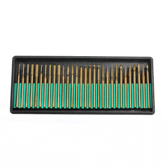New 30Pcs Diamond Bur Bits Drill Set For Engraving Dremel Rotary Shanks 2.3mm Price Philippines