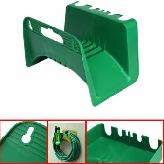 Harga Home Garden Watering Irrigation Hose Pipe Hanger Reel Holder Wall Mounted Green - intl