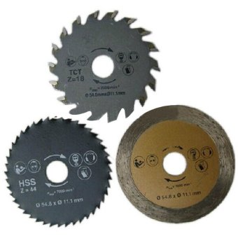 Harga 3pcs/Set Mini Circular Saw Blade TCT Wood Disk Tile HSS Metal Cutting