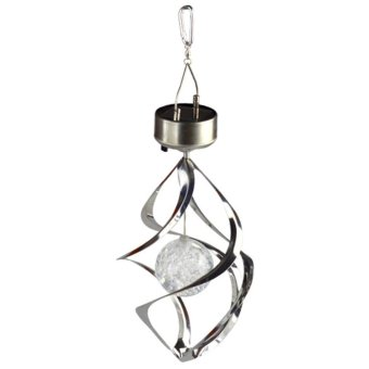 Harga Solar Powered Wind Light Outdoor Hanging Garden Light - intl