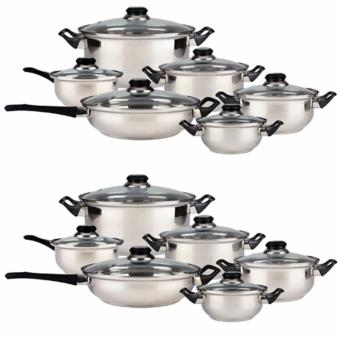 Lifestyle Stainless Steel Cookware 24-piece Set (Silver) Price Philippines