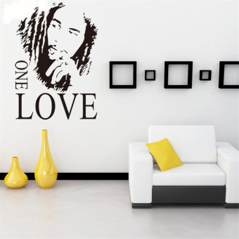 Harga Hequ Bob Marley One Love Graphic Removable Vinyl Wall Sticker Mural Decal Home Decor