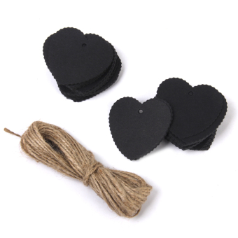 Harga Kraft Paper Blank Card Hand Draw Gift Tags Heart Label 100pcs Black
