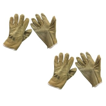 "Meisons leather welding gloves 9.5"" light brown (2 pairs) Price Philippines"