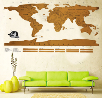 Harga Wallmark Golden World Map poster