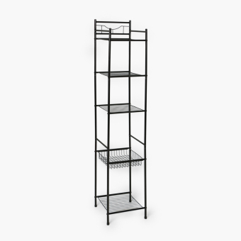 Home@Home 5-tier Tower Shelf (Black) Price Philippines