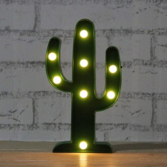 Harga 3W LED Home Garden Cocktail Party Lamp Cactus - intl