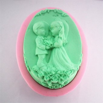 Harga The Bride and Groom Silicone Soap Mold