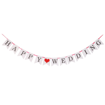 Vintage Paper HAPPY WEDDING Bunting Banner Rustic Wedding Decor Price Philippines