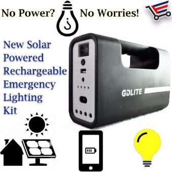 Harga GD Lite Solar Powered Rechargeable Emergency Lightning kit