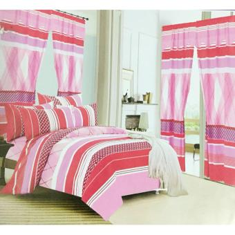 Harga 5IN1 Bedsheet With Curtain(King Size)