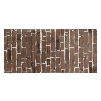 Rustic Brick Effect Rock Stone Textured Wall Sticker Paper Coffee Price Philippines