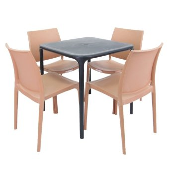 Cofta Jasmine Table Set 4 (Brown/Black) Price Philippines