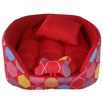 Red Web Play Pet Cat Dog Bed (Red) Price Philippines