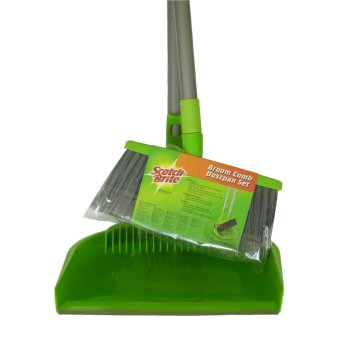 Harga Scotch-Brite Broom Comb-Dustpan Set (Green)