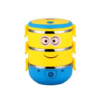 Harga SHOP AND THRIFT MINIONS 3 LAYER LUNCH KEEPER FOOD KEEPER LUNCH BOX