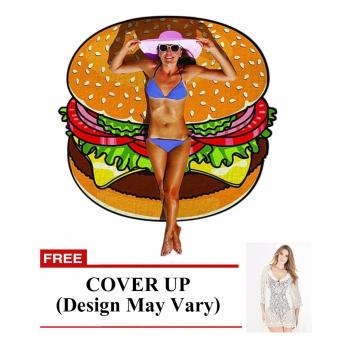 Harga Beach Towel (Burger) with Free Cover Up