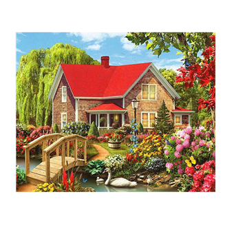 Harga Garden House 5D Diamond DIY Painting Home Decor Craft