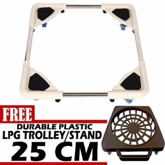 Harga Prostar Stainless Steel Washing Machine Base / Durabase with Free 25 cm Durable Plastic LPG Base /Trolley