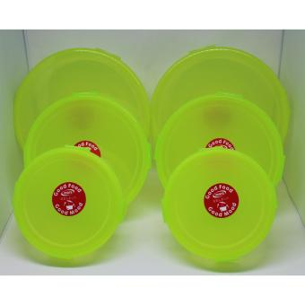 Harga Imara 3 in 1 Round Food Keeper Yellow Set of 2