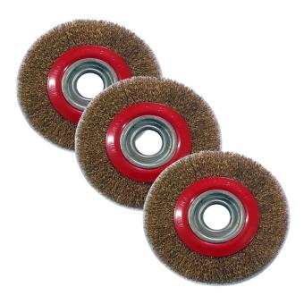 Harga 3 Set Combo Prostar Brass Wheel Brush 6 Inches (150 mm)