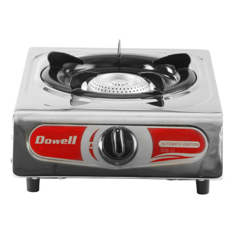 Harga Dowell Single Burner Gas Stove SSB-33 (Stainless/Red)