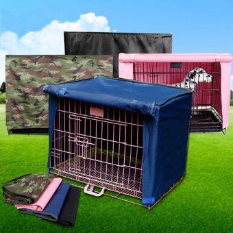 "Pet Dog Crate Cage Kennel Cover Black 23"" Length Size M Price Philippines"