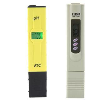 Harga Leegoal Digital PH Meter TDS PH Tester High Accuracy With Backlit LCD Display For Water Quality PH Testing, Yellow+Gray - intl