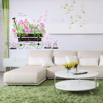 Wall Decal - Beautiful Wheel Cart with flowers Price Philippines