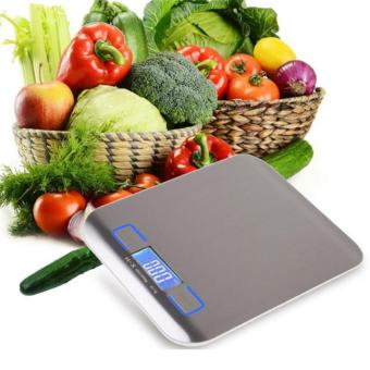 Harga YingWei Stainless Steel Digital Scale Kitchen Scales Cooking Measuring Tools Electronic LED Weight Food Scale (Silver) - intl