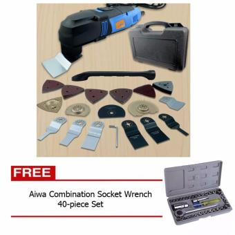 Multi Function Deluxe Multi tool Kit 37 Accessories with Free Aiwa Combination Socket Wrench 40-piece Set Price Philippines