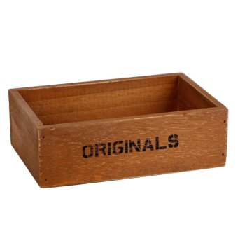 Handmade Rustic Antique Storage Vintage Wooden Boxes/Crates Trugs Retro - intl Price Philippines