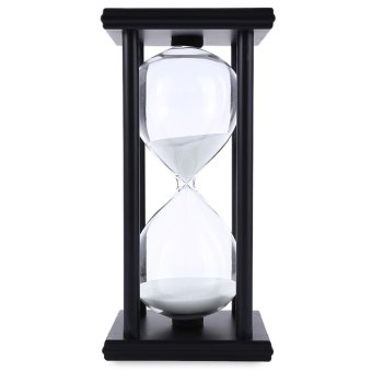 Harga Hourglass Sand Timer 60 Minutes Wood Sand Timer (Black/White)