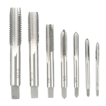 Harga 7PCS/Set High Hardness M3-M12 Metric Straight Fluted Screw Thread Taps Bearing Steel Screw Tap Set for Hand Use M3 M4 M5 M6 M8 M10 M12 - intl