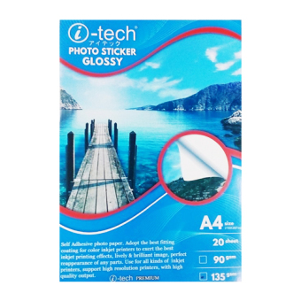 Harga i-tech Photo sticker paper glossy A4 size 90gsm