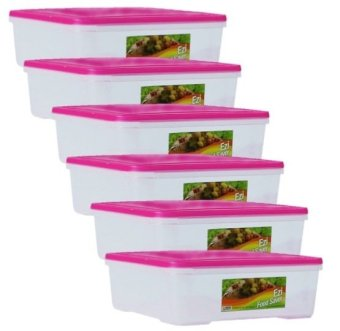 Harga Sunnyware 724 Large Food Keeper Set of 6 (Pink)