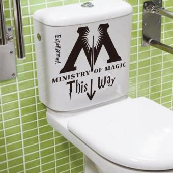 Harga coconie Ministry Of Magic This Way Vinyl Sticker Toilet Seat Wall Decals Home Decor DIY - intl