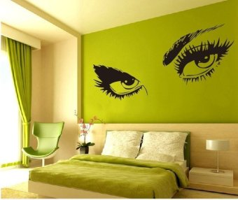 Harga Audrey Hepburn SEXY EYES Wall Stickers Home Art 50cm*95cm