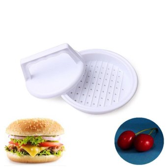 Harga Beef Hamburger Mold US Kitchen Burger Cooking Grill Plastic Press Maker White - intl