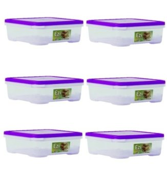 Harga Sunnyware 722 Small Food Keeper Set of 6 (Violet)