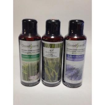 Harga Good Scents Aroma Fragrance 3 Best Sellers Lavander and Bamboo Lotus and Citronella 125ml